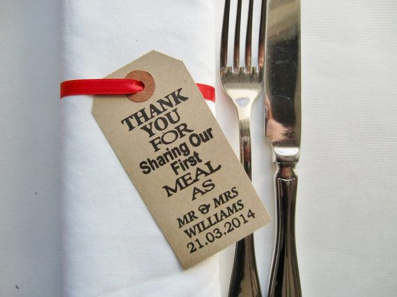 Great idea for a rustic napkin ring which doubles as a wedding favour #WeddingDecor. Available on Etsy