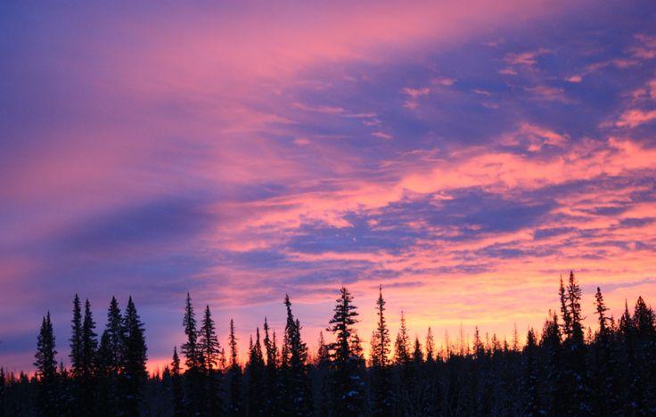 A November sunset