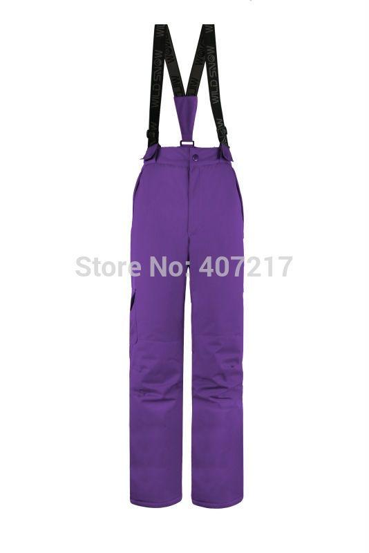 64.40$  Buy here - http://alir2s.worldwells.pw/go.php?t=32739726045 - 2016 womens purple ski trousers female skiing snowboarding pants climbing hiking padded sports pants waterproof warm ski jupon