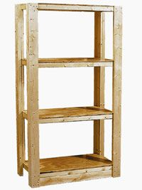 How to Build Utility Shelves - Easy Shelf Projects - Built-ins, Shelves & Bookcases. DIY Advice