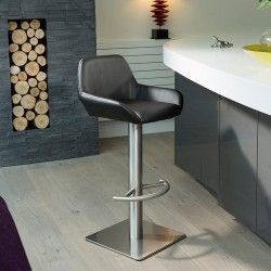 Gorgeous Unique Luxury Kitchen Breakfast Bar Stools Stainless Steel Avaialble In White
