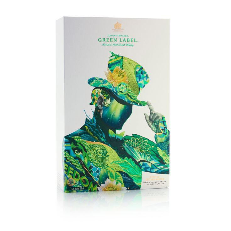 Johnnie Walker Green Label - Diageo's Artist Series 2017 on Packaging of the World - Creative Package Design Gallery
