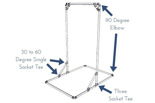 DIY Free Standing Pull-Up Bar Plans