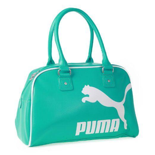 f31b792bcdb0 Amazon.com  Puma Women s Heritage Handbag Purse Bag (Teal Green)  Clothing