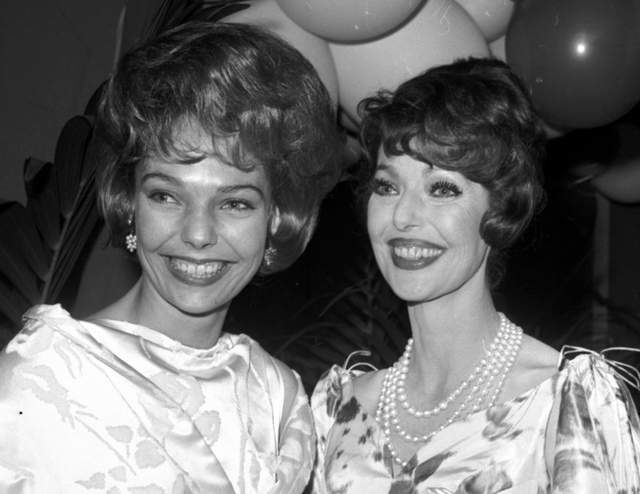 "(Left) Judy Lewis-born of a Hollywood 1935 scandalous affair between (r) Loretta Young, 22 and a married Clark Gable, 34 on the set of ""The Call of the Wild"". Judy didn't find out Gable was her father until she was 23. He never acknowledged her and it was hushed up because in those days ""it would have ruined both their careers"" per Miss Young."