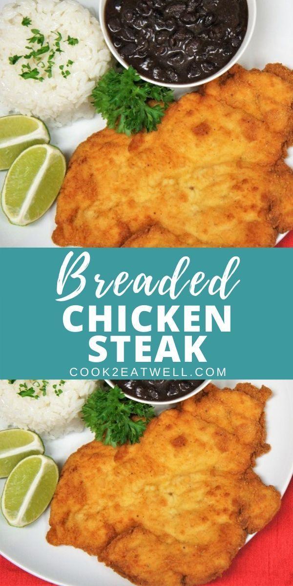 breaded chicken steak in 2020 healthy chicken recipes chicken steak breaded chicken pinterest