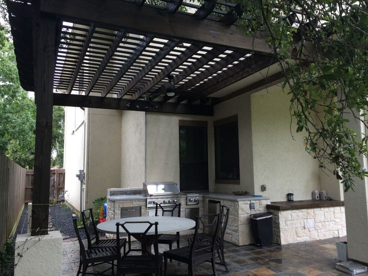 Houston Outdoor Kitchens Are Increasingly Incorporating Concrete  Countertops, Like This One Designed And Built By