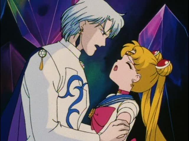 Prince Diamond kissing Sailor Moon | Sailor Moon Cuts: Episode 87