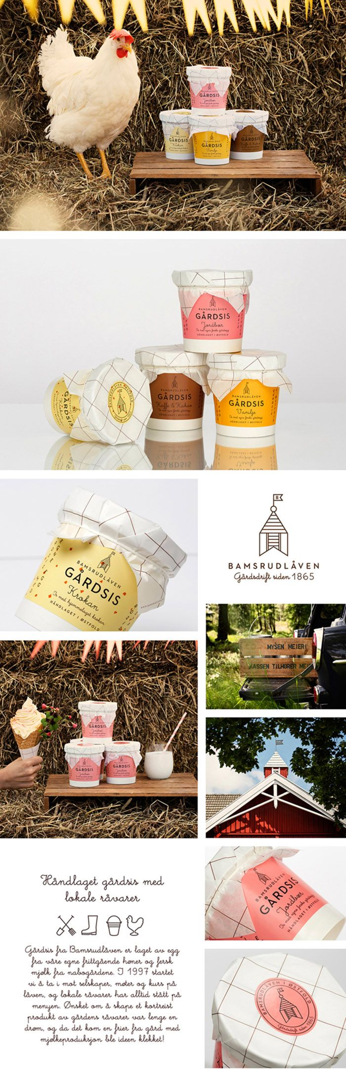 Bamsrudlåven Gårdsis yummy #icecream #Identity #packaging #branding PD