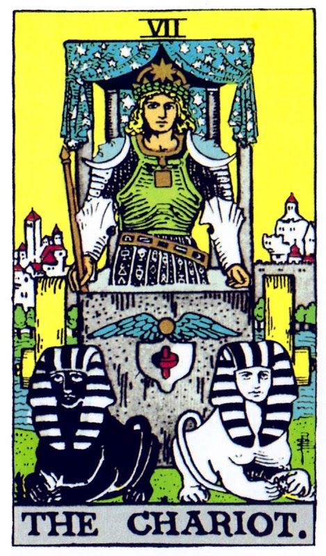 Image result for the chariot tarot card rider waite