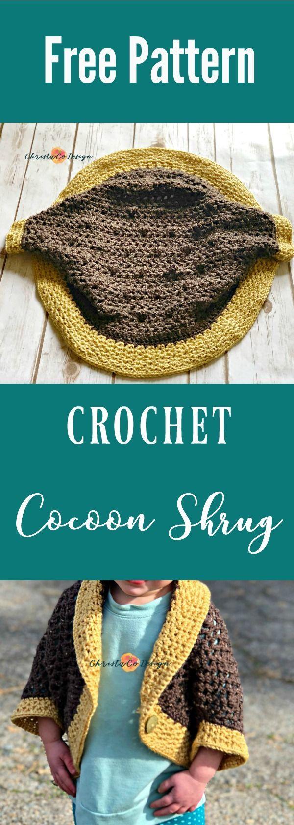 Toddler Crochet Cocoon Shrug Pattern | Pinterest