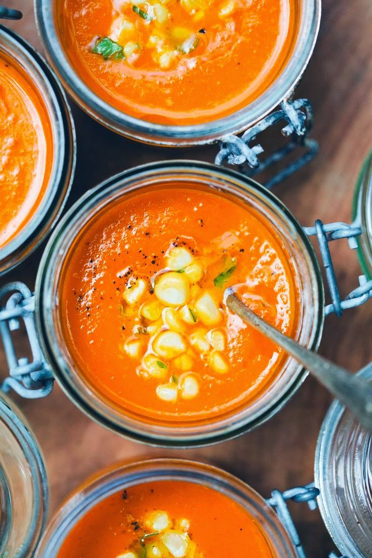 Carrot, Tomato, Coconut Soup Via Green Kitchen Stories