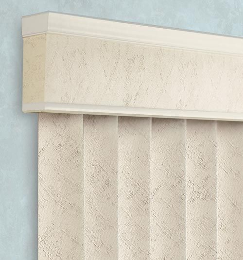 Transitional Valance with White trim