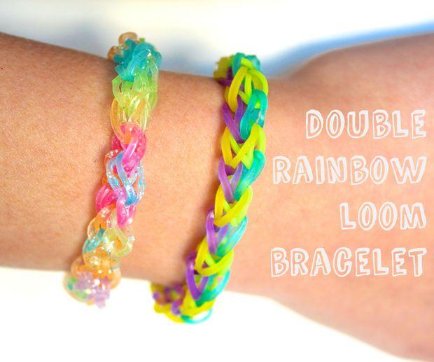 Picture of double rainbow loom bracelet