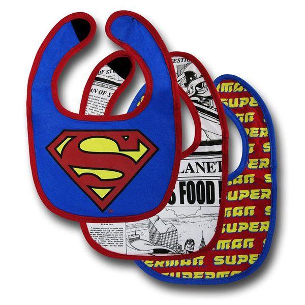 Superman Bib 3-Pack $11.99