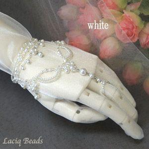 Список Анжу Блан платье браслет Элегантный ручной комплект невесты свадьба Pearl