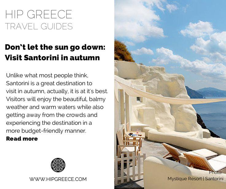Santorini in Autumn   Cyclades   Greece