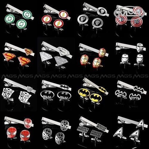 Buy 6 Get 1 Free THE AVENGERS SUPERHERO JUSTICE LEAGUE CUFFLINKS TIE CLIP CLASP