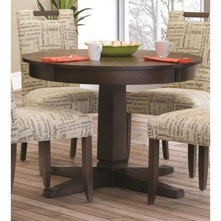 Whole home md 39 39 birch dining style 5014 39 39 round pedestal table dining table ideas - Birch kitchen table ...