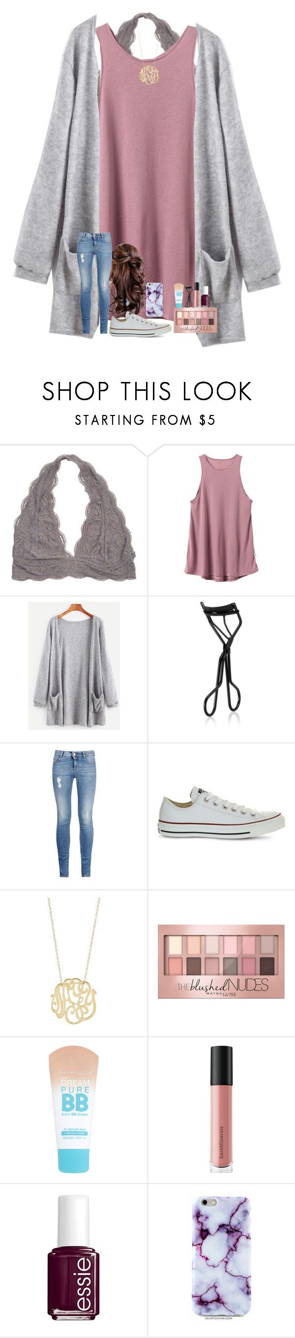 """watching Moana"" by shenry2016 ❤ liked on Polyvore featuring RVCA, NARS Cosmetics, STELLA McCARTNEY, Converse, Ginette NY, Maybelline, Bare Escentuals and Essie"