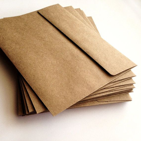To mail invitations in. A7 Kraft Envelopes  Set of 25  A7 envelope  Wedding by AnnsPaperie, $10.00
