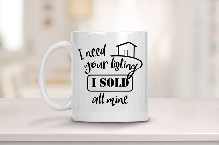 11 oz. coffee cup mug - Great gift for your realtor! Customize it with your real estate company logo! by DoodlesAndDots2 on Etsy