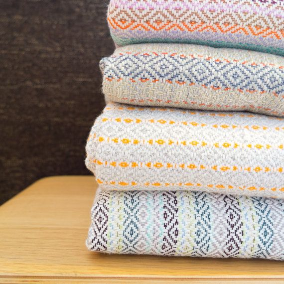 Handwoven throw, natural dyed cotton blanket for only $80...I think my bedroom with thank me!