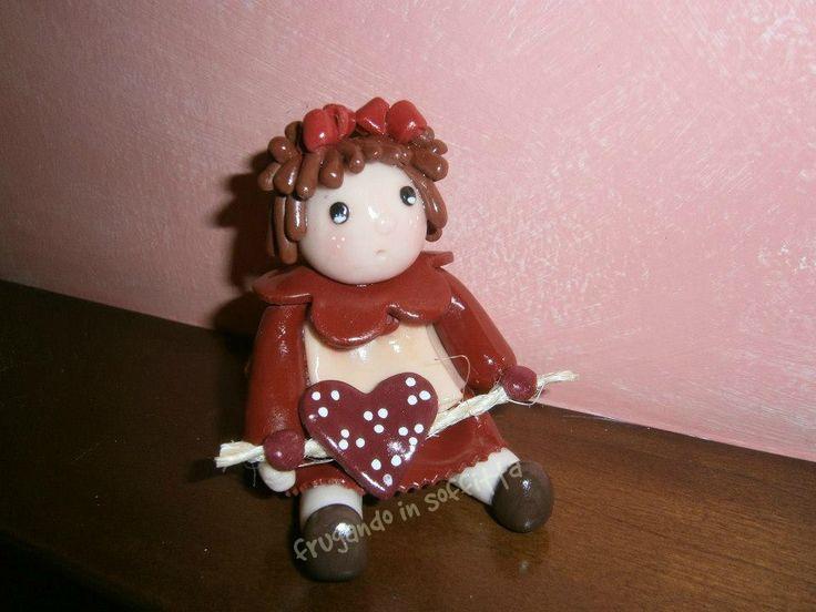 bambolina  in pasta modellabile  gabrylea