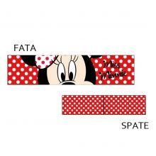 Bentita Minnie Mouse 3 - rosu/buline albe