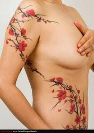 cherry blossom tummy tuck tattoos - Google Search