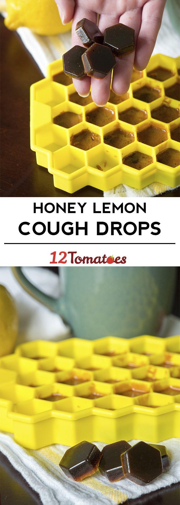 Homemade Honey Lemon Cough Drops