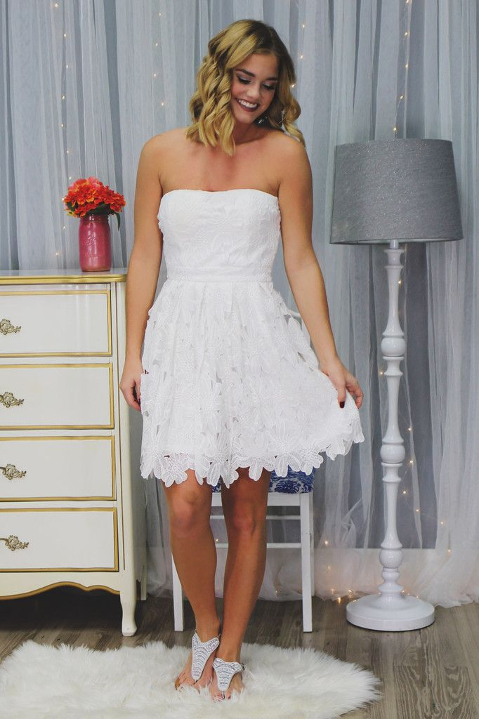 Strapless Sweethart Bust Fit and Flare Crochet Dress – UOIOnline.com: Women's Clothing Boutique