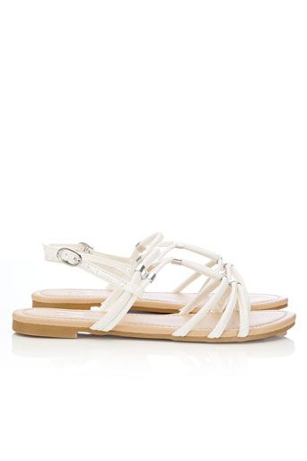 White Strap Flat Sandal #WallisFashion