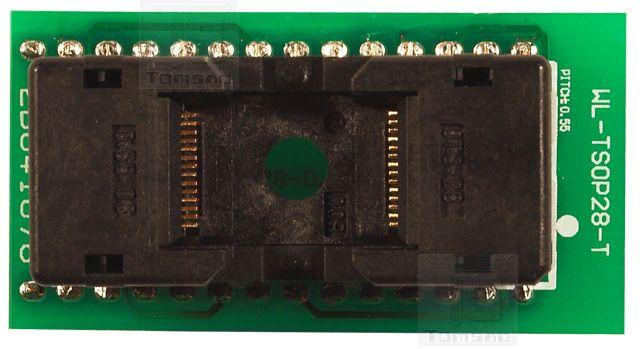 #Adapter WL-TSOP28-U1 ZIF do programowania takich układów jak :  #eeprom 28C256