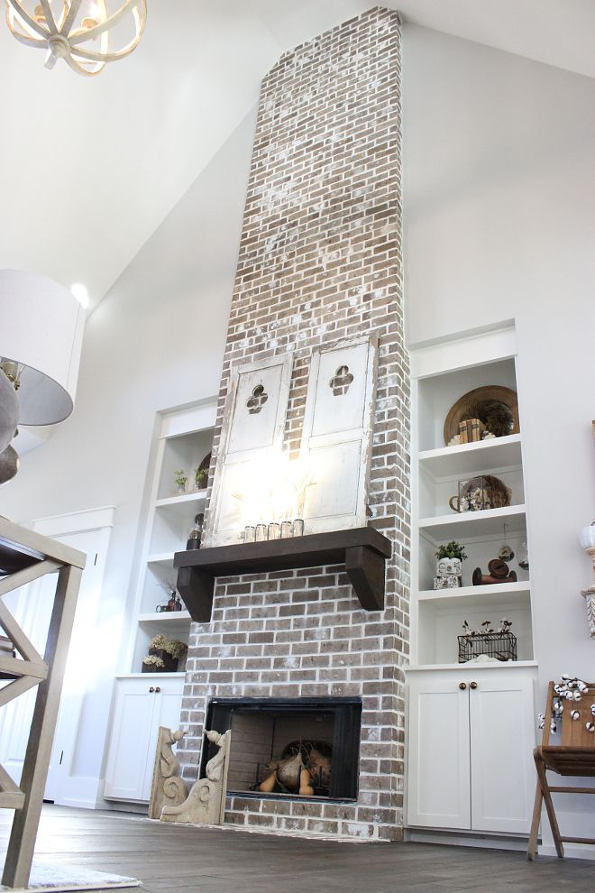 Brick Fireplace Farmhouse