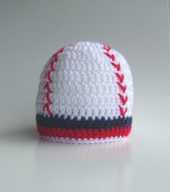 Crochet Baby Baseball Hat Photo Prop Boy Baseball Hat by zxcvvcxz, $12.95