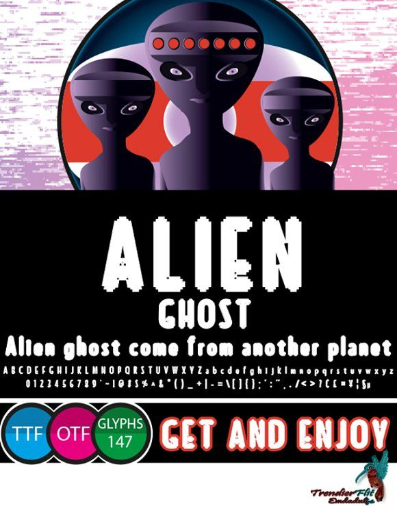 Alien Ghost is a pixel rounded blackletter font. 147 glyph comes with otf and ttf format