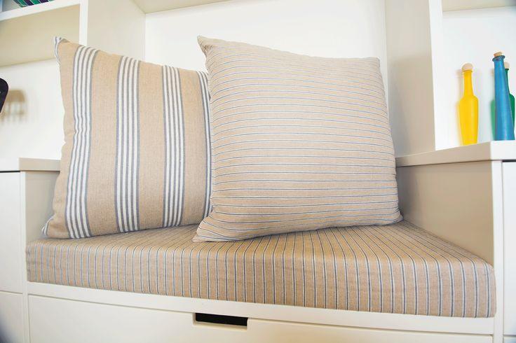 Custom made Banquet seat with cushions www.studioldm.com.au