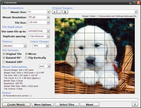 Photo mosaic software