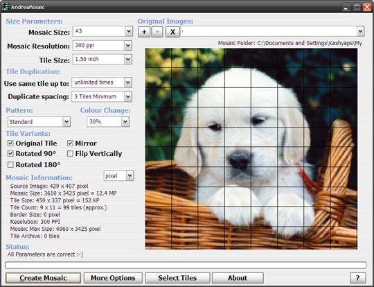 Photo mosaic software