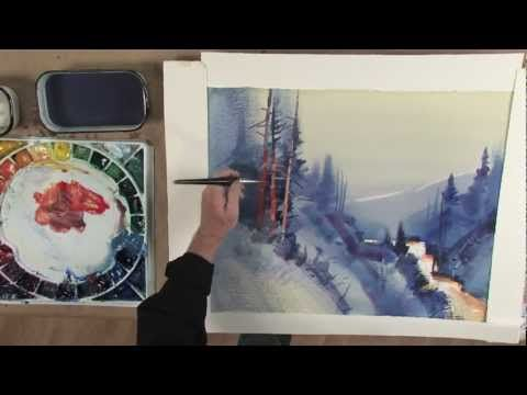 ▶ Stephen Quiller's Painting Workshop: Atmosphere & Light in Watercolor - YouTube