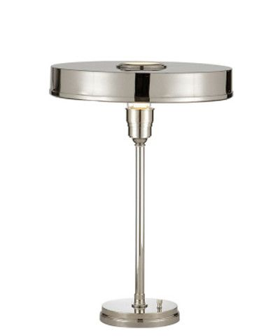 Carlo Table Lamp, Polished Nickel