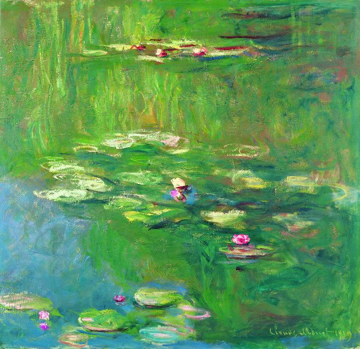 クロード・モネ 《睡蓮のある池》1919年 油彩・キャンヴァス