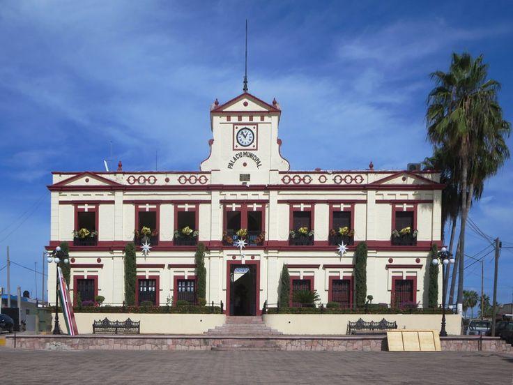 The square in front of the Palacio Municipal in El Rosario, Sinaloa, Mexico, is the venue for local festivals.