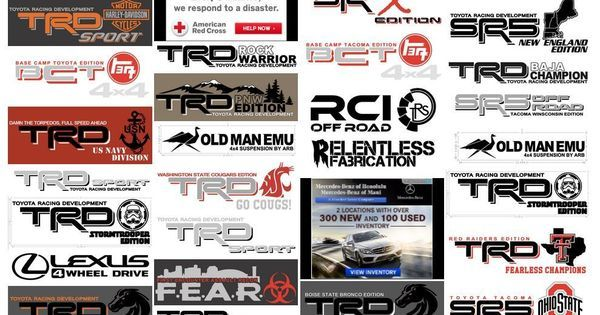 231071062644 moreover Vinilos Stickers Calcas Toyota Trd Off Road Ta a 104237037xJM in addition Toyota Suspension Lift Kit 749 20 moreover Trd Logo Wallpaper additionally 67280 2004runner4x4s 2004 4runner Build Thread. on trd off road stickers
