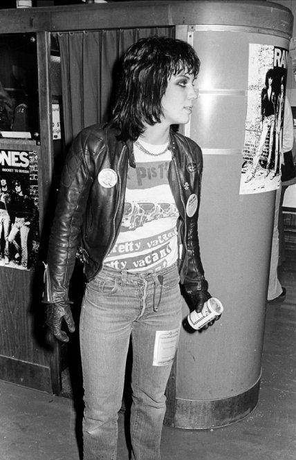 Joan Jett wearing original Sex Pistols tee fuck yeah!!