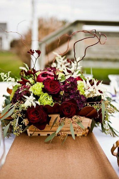 Best gold burgundy table decorations images on