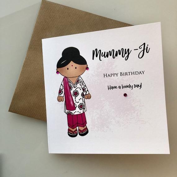 Indian Mum Birthday Card Mummy Ji Naniji Bibiji Ammi Desi Mum Desi Grandma In 2021 Birthday Cards For Mum Happy Birthday Mummy Birthday Cards