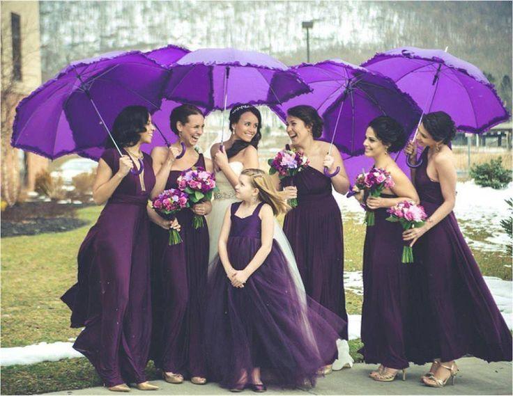 Purple bridesmaids. Swoon