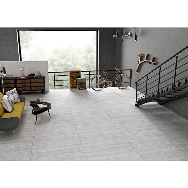 Floor And Tile Decor Woodbridge Helsinki White Wood Plank Porcelain Tile  8Inx 48In